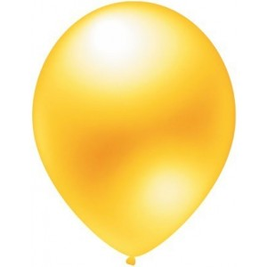 baloane latex metalizate galben 30 cm