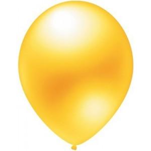 latex balloons metallic yellow 30cm