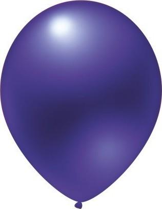 latex balloons metallic purple 30 cm