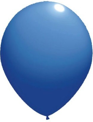 Baloane latex standard 13 cm albastru