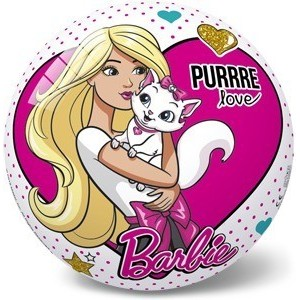RUBBER BALL BARBIE&PETS 23 CM