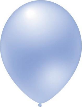 baloane latex metalizate albastru luminos 30 cm