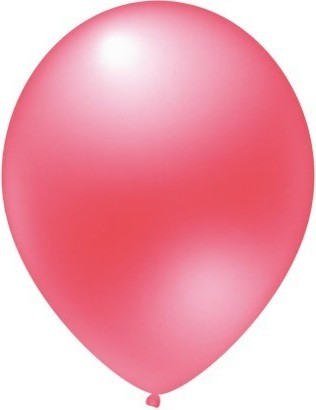 baloane latex metalizate roz luminos 30 cm