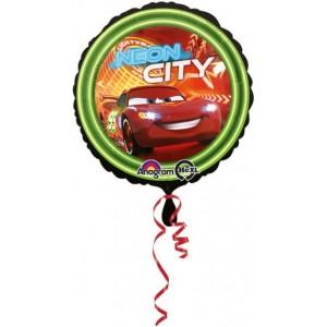 Foil balloons 45 cm CARS NEON CITY